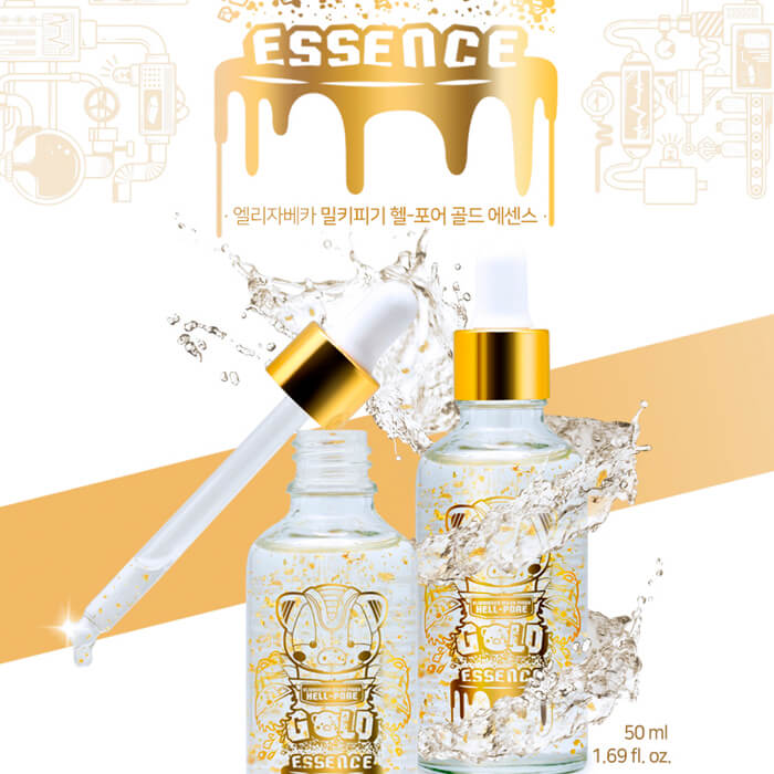Эссенция для лица Elizavecca с ЗОЛОТОМ MILKY PIGGY HELL-PORE GOLD ESSENCE 50мл- фото2