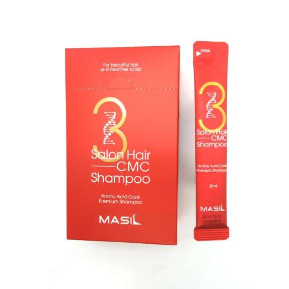 Шампунь Masil с аминокислотами 3 Salon Hair CMC Shampoo 8 мл- фото